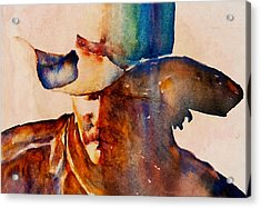 Acrylic Print featuring the painting Rustic Cowboy by Jani Freimann