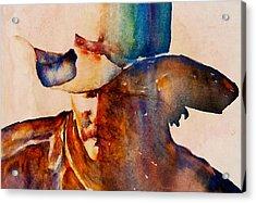 Rustic Cowboy Acrylic Print