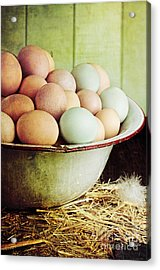 Rustic Farm Raised Eggs Acrylic Print