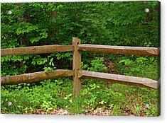 Rustic Fence Acrylic Print
