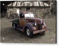Acrylic Print featuring the photograph Rustic Ford Truck by Keith Hawley