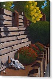 Rustic Garden Acrylic Print