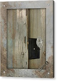 Rustic Glass Door Knob Acrylic Print