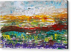 Rustic Landscape Abstract Acrylic Print