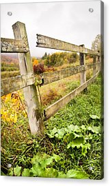 Rustic Landscapes - Broken Fence Acrylic Print by Gary Heller