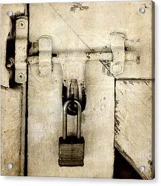 Rustic Lock Out Acrylic Print by Davina Washington