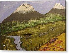 Rustic Mountain Scene Acrylic Print by Keith Nichols