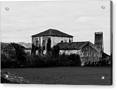 Rustic Outbuildings In A Field  Acrylic Print