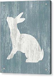 Rustic Rabbit On Wood Acrylic Print by Flo Karp