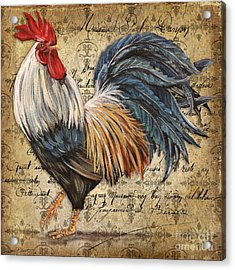 Rustic Rooster-jp2119 Acrylic Print
