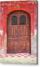 Rustic Spanish Colonial Door - Granada Acrylic Print