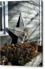 Acrylic Print featuring the photograph Rustic Star by Lyric Lucas