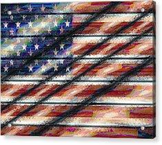 Rustic Usa Acrylic Print