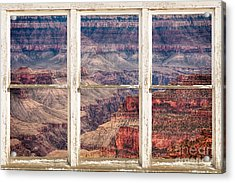 Rustic Window View Into The Grand Canyon Acrylic Print