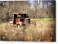 Rusting Away Acrylic Print by Marty Koch