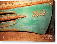 Rusting Ford Acrylic Print by James Brunker