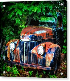 Rusting In The Shade Acrylic Print