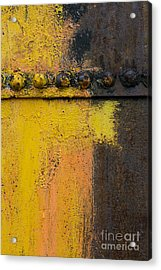 Rusting Machinery Acrylic Print by John Shaw