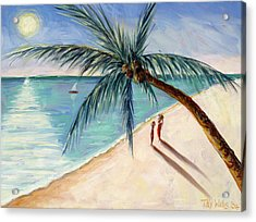 Rustling Palm Acrylic Print by Tilly Willis