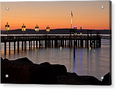 Ruston Way Tacoma Sunset Acrylic Print