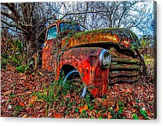 Rusty 1950 Chevrolet Acrylic Print by Andy Crawford