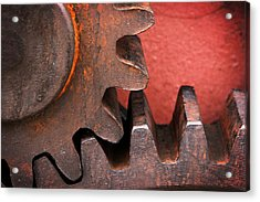 Rusty And Metallic Gear Wheel Acrylic Print