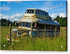 Acrylic Print featuring the photograph Rusty Bus by Crystal Hoeveler