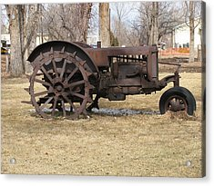 Rusty Case Tractor Acrylic Print by Steven Parker