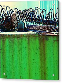 Rusty Coils 2 Acrylic Print by Laurie Tsemak