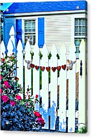 Rusty Cottage Welcome Acrylic Print by Margaret Newcomb