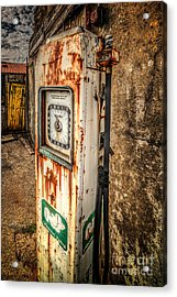 Rusty Gas Pump Acrylic Print by Adrian Evans