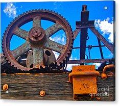Rusty Gear Acrylic Print by Gregory Dyer