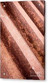 Rusty Gears Abstract Acrylic Print by Edward Fielding