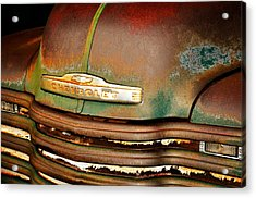 Rusty Gold Acrylic Print by Marty Koch