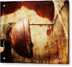 Rusty Headlamp Acrylic Print
