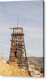 Rusty Mining Headframe Acrylic Print by Sue Smith