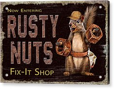 Rusty Nuts Acrylic Print by JQ Licensing