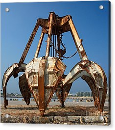 Rusty Obsolete Dredging Equipment Acrylic Print