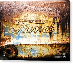 Acrylic Print featuring the photograph Rusty Old Ford Closeup by Edward Fielding