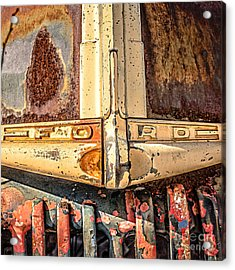 Rusty Old Ford Acrylic Print by Edward Fielding