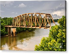 Rusty Old Railroad Bridge Acrylic Print