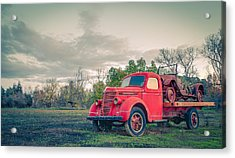 Rusty Old Red Pickup Truck Acrylic Print by Sarit Sotangkur