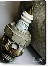 Rusty Old Spark Plug  5  Acrylic Print by Wilma  Birdwell