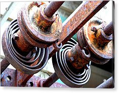 Rusty Relics Acrylic Print by Charlie and Norma Brock