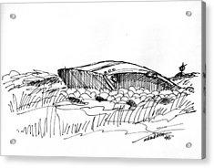Rusty Shipwreck 1998 Acrylic Print by Richard Wambach