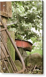 Rusty Things Acrylic Print by Andrea Dale