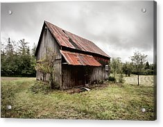 Rusty Tin Roof Barn Acrylic Print