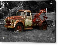 Rusty Tow Truck Acrylic Print