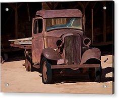 Rusty Truck 04 Acrylic Print by Wally Hampton