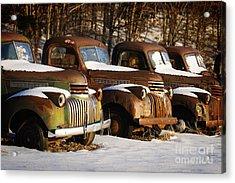 Rusty Trucks Acrylic Print